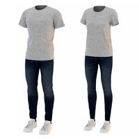 Men And Women T-Shirt Jeans and Sneakers (2)