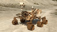 Curiosity Mars Rover Dusty Rigged