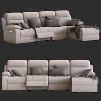 4-Seater Modular Sofa with Chaise and Foot lift