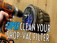 Super Clean Your Shop Vac Filter