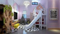 Child Bedroom with Bunk Beds and Toys