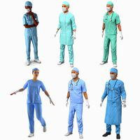 Doctors Rigged Collection 3 for Cinema 4D