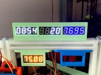 Triple display holder for quad seven segment led displays