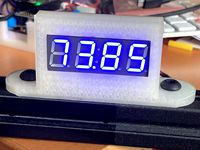 A four digit, seven segment led display holder for an 8020 series 10 extrusion