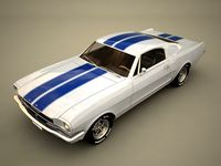 3ds mustang fastback