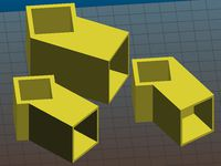 Square tube holder - various sized and angles - parametric
