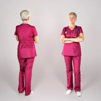 Adult surgical nurse in red uniform 144
