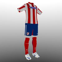 soccer kit clothes atletico 3d 3ds