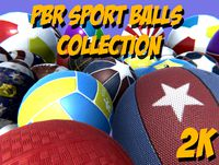 PBR sport balls collection