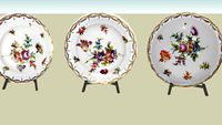 Plates of Meissen porcelain from St.-Petersburg's collections.
