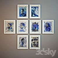 Haris Tsevis. Series of illustrations devoted to Cristiano Ronaldo