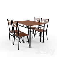 Table with chairs for the kitchen