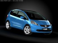 2009 Honda Fit  Jazz 3D Model