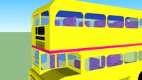 yellow routemaster bus