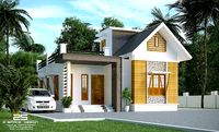 800sqft House Model with corona Render