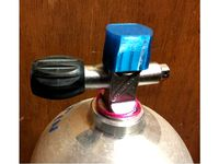 Dust Cap for Scuba Cylinder/Tank by Potatoes3D