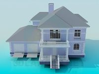 3D Model Two-storey house