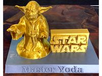 Master Yoda on a stand by milvet