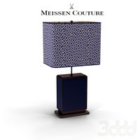 Meissen Table lamp Royal Blue glazed