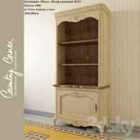 Bookcase Chateau HSZ1 and tile from 1900 Vives Azulejos y Gres