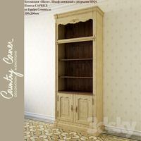 Bookcase with doors and tile Chateau HSQ1 CAPRICE by Equipe Ceramicas